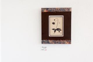 陶板鉄絵-レンゲショウマ-